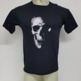 Camiseta Caveira Criativa Estampa Silk Screen Masculina