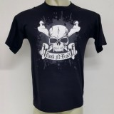Camiseta Rock n Roll Caveira Criativa Estampa Masculina